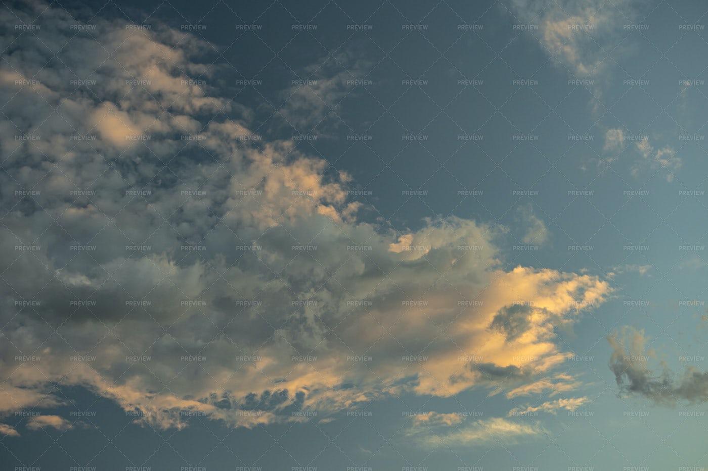 Sky At Sunset: Stock Photos