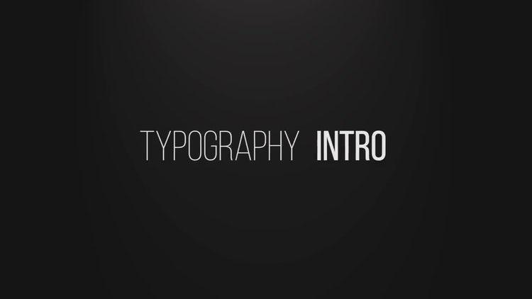 Typographic Intro: Premiere Pro Templates
