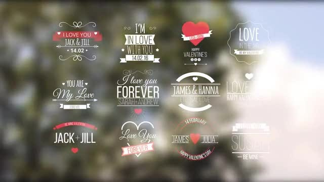 Love Titles: Motion Graphics Templates
