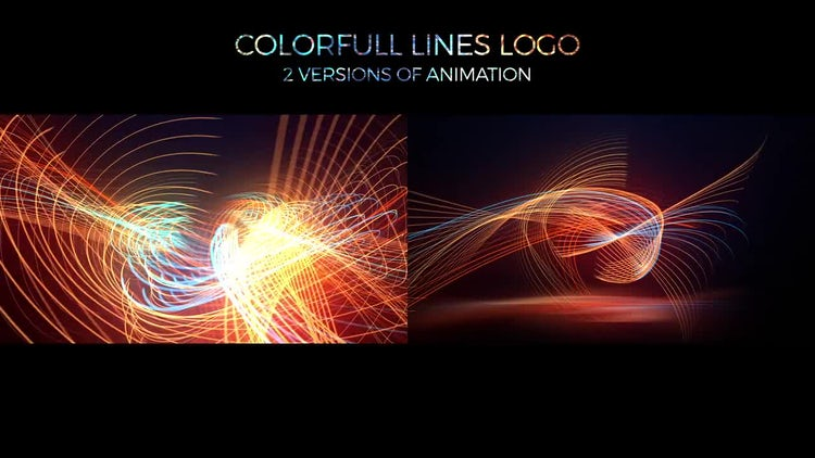Colorful Lines Logo: After Effects Templates