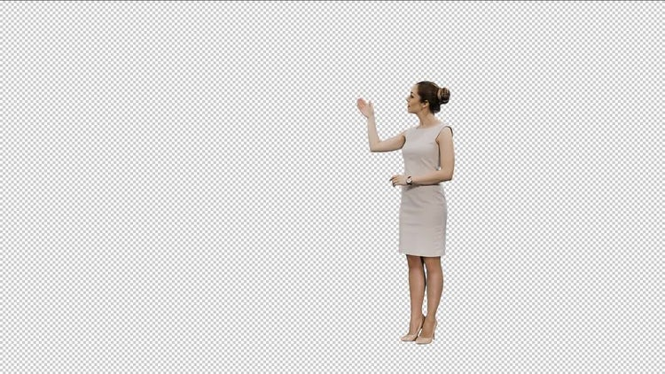Woman media Broadcaster: Stock Video