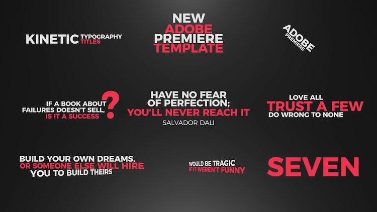 Kinetic Typography Titles: Premiere Pro Templates