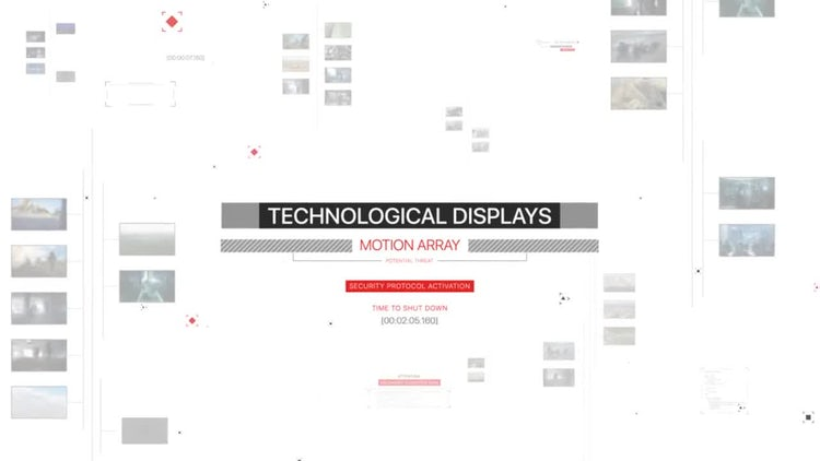 Technological Displays: After Effects Templates
