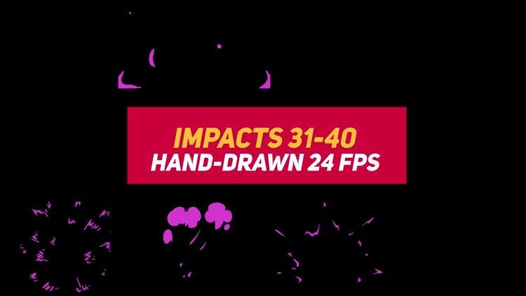 Liquid Elements Impacts 31-40: Motion Graphics
