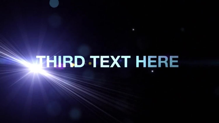 Flare Type: After Effects Templates