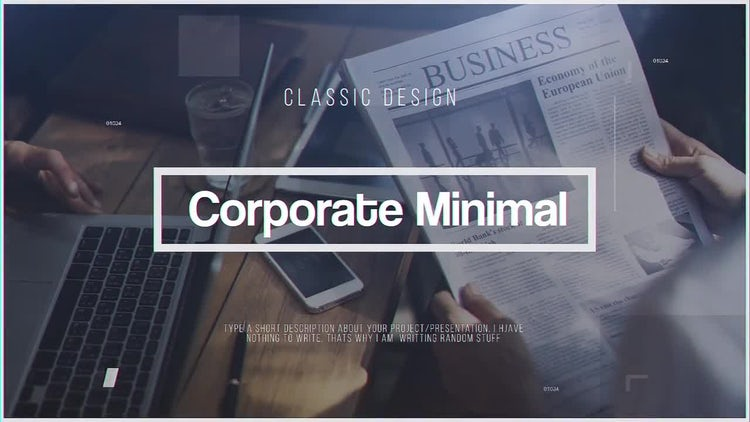 Corporate Minimal: After Effects Templates