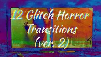Glitch Horror Transitions Ver.2: Premiere Pro Templates
