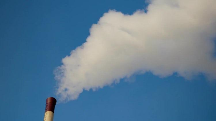 Chimney Smoke Rising: Stock Video
