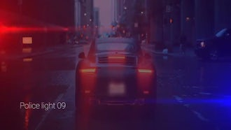 Police Lights: Motion Graphics