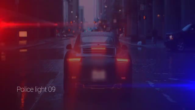Police Lights: Stock Motion Graphics