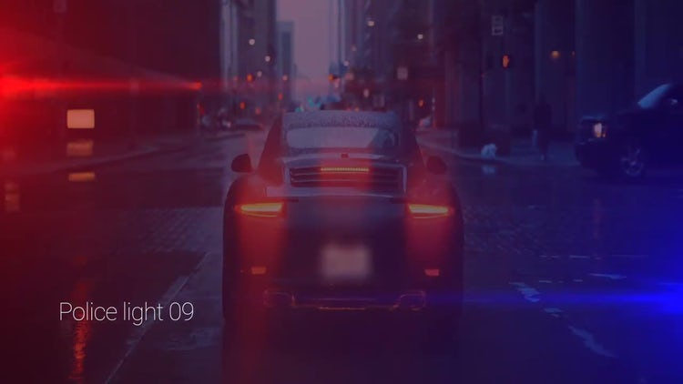Police Lights: Motion Graphics