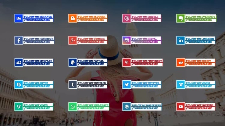 20 Social Media Lower Thirds Template: After Effects Templates