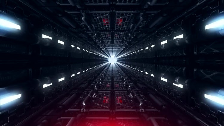 Futuristic Tunnel: Stock Motion Graphics