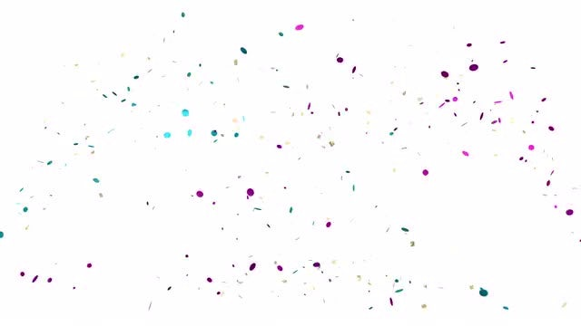 Fountain Of Confetti: Stock Motion Graphics