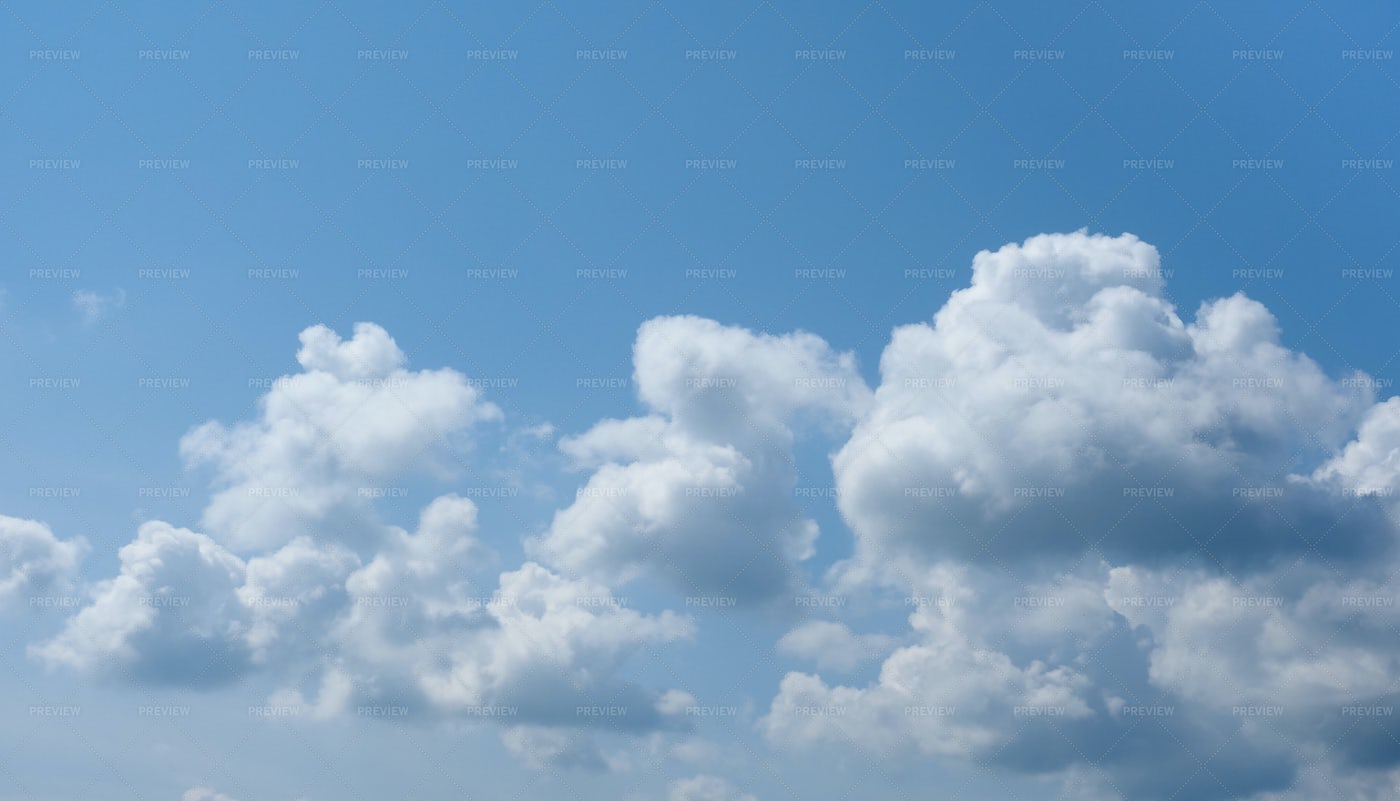 Series Of Fluffy Clouds: Stock Photos