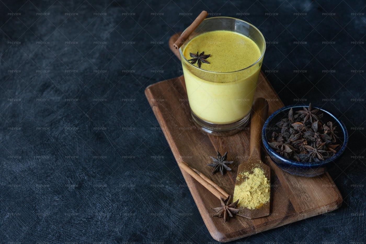 Indian Turmeric Drink: Stock Photos