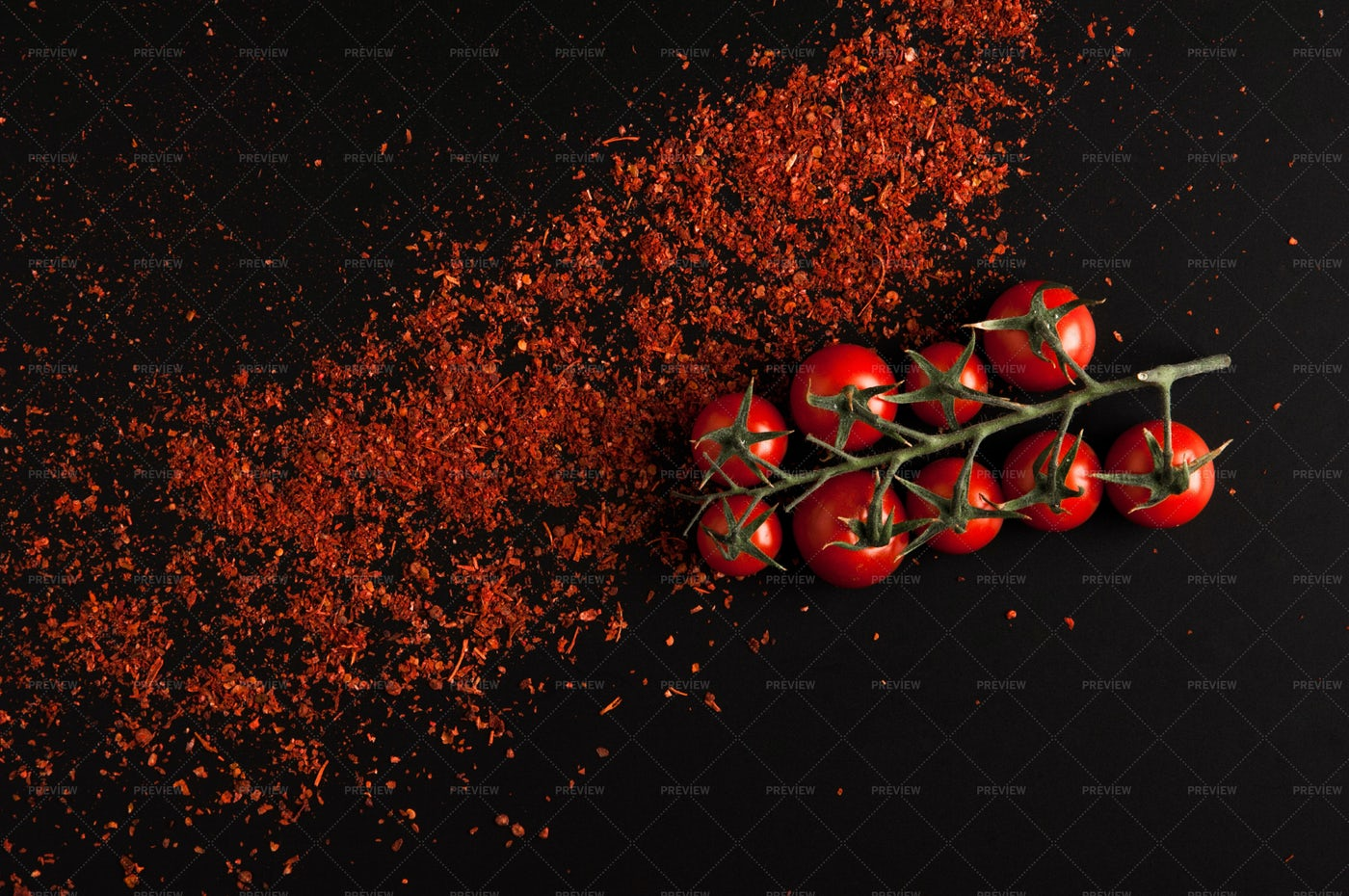 Tomatoes And Red Pepper: Stock Photos