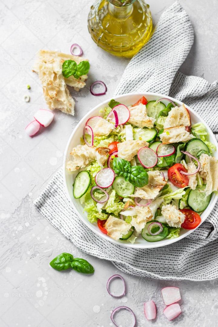 Lebanese Salad With Pita: Stock Photos