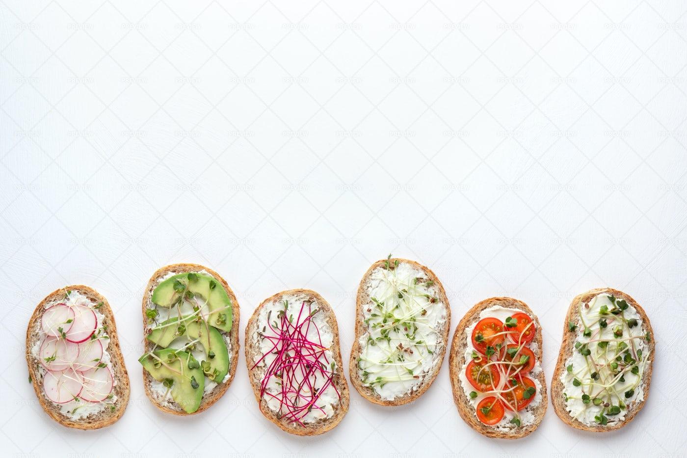 Healthy Bread Spreads: Stock Photos