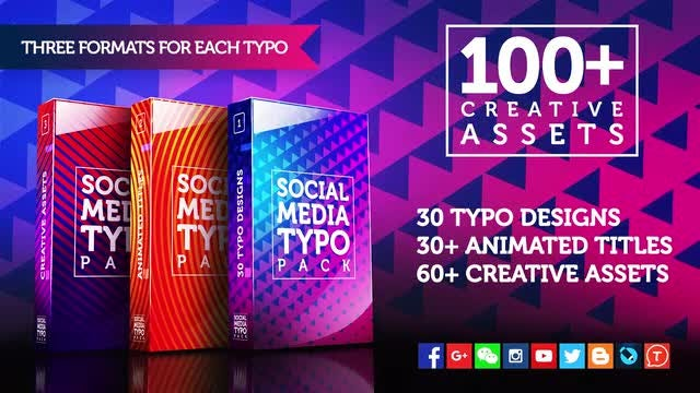100+ Social Media Typo Pack: Premiere Pro Templates