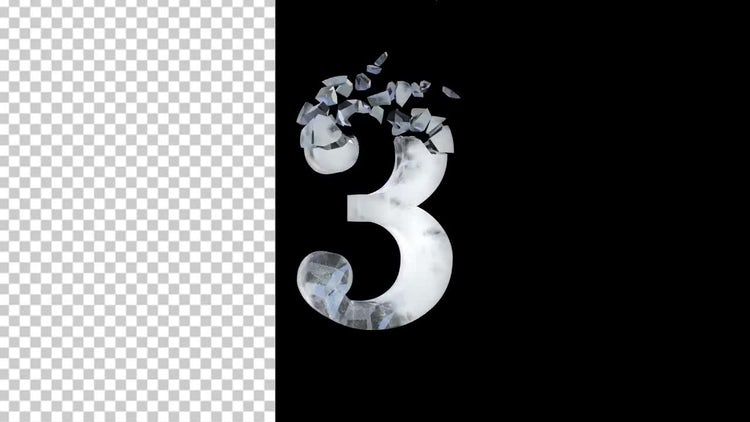 Rotating Ice Countdown: Stock Motion Graphics