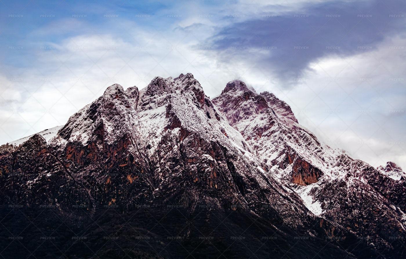 The Dolomite Mountain Peaks: Stock Photos