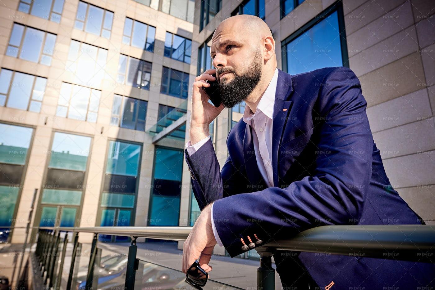 Businessman Downtown: Stock Photos