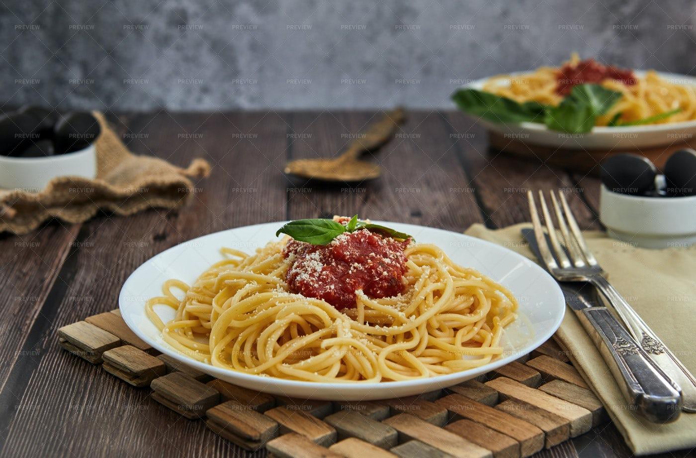 Cooked Spaghetti: Stock Photos