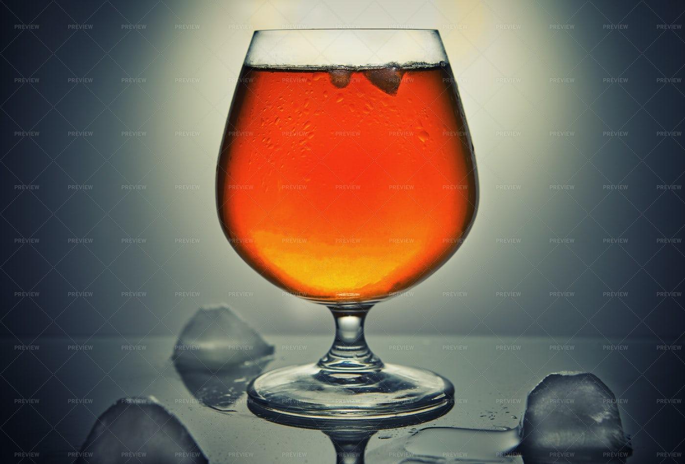 Orange Alcoholic Drink: Stock Photos