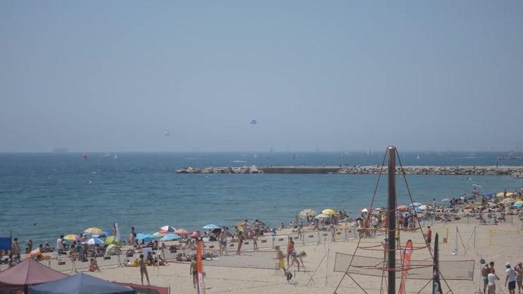 Active Sports Summer Beach: Stock Video