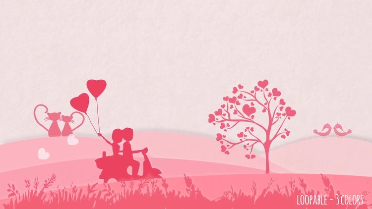 Valentine Backgrounds: Stock Motion Graphics