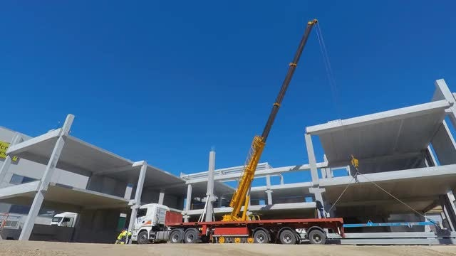 Construction Site With A Blue Sky: Stock Video