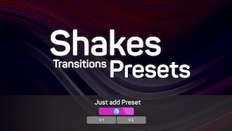 Shakes Transitions Presets: Premiere Pro Templates