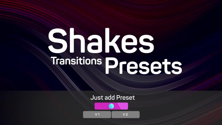 Shakes Transitions Presets: Premiere Pro Presets