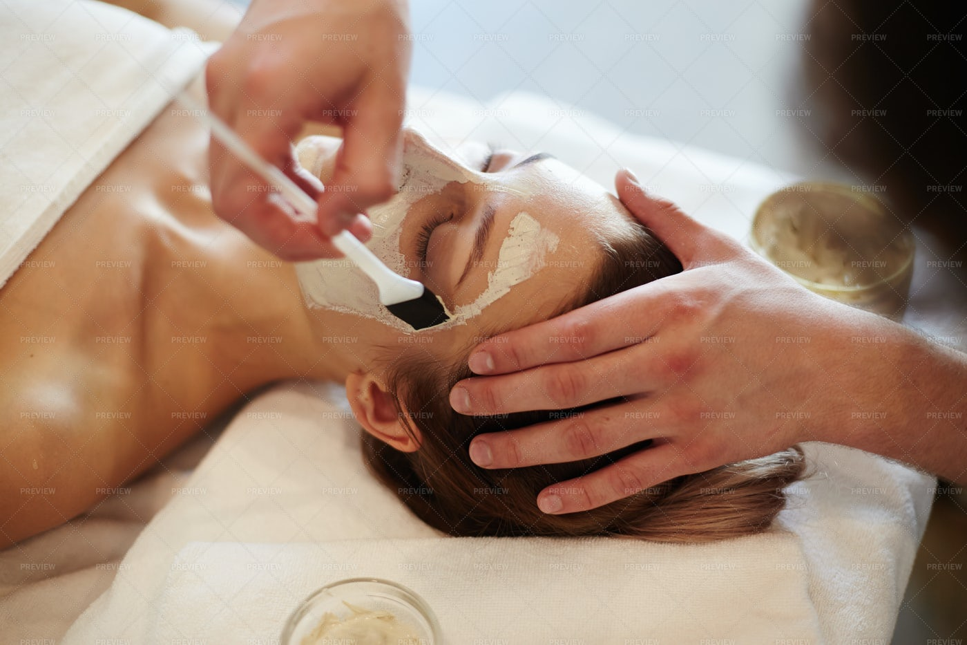 Beauty Treatments In SPA: Stock Photos