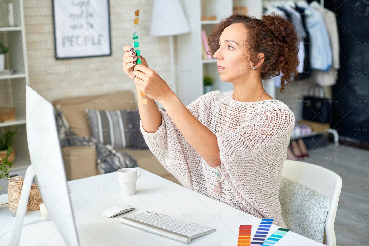 Young Interior Designer Choosing...: Stock Photos
