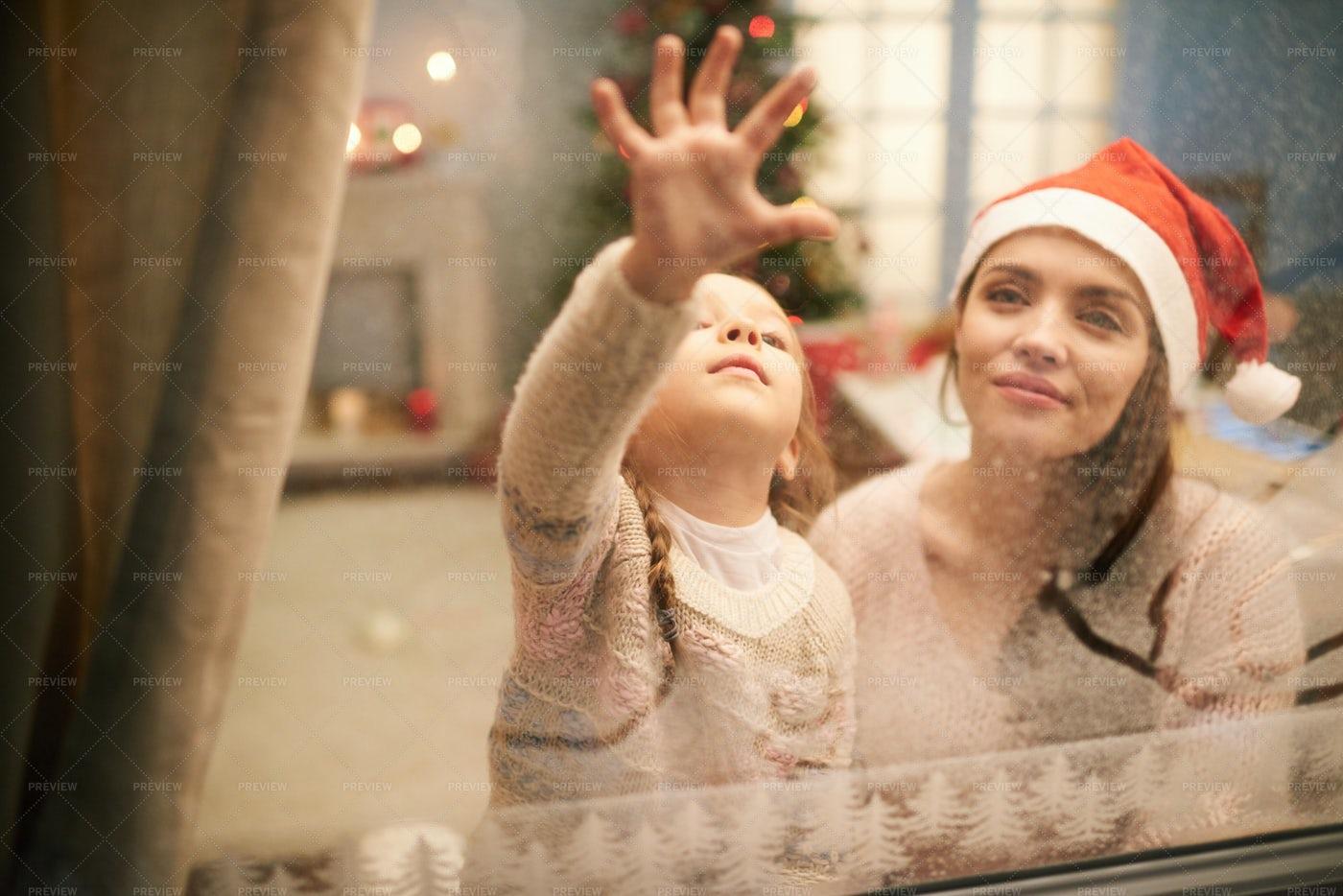 Leaving Message To Santa Claus: Stock Photos