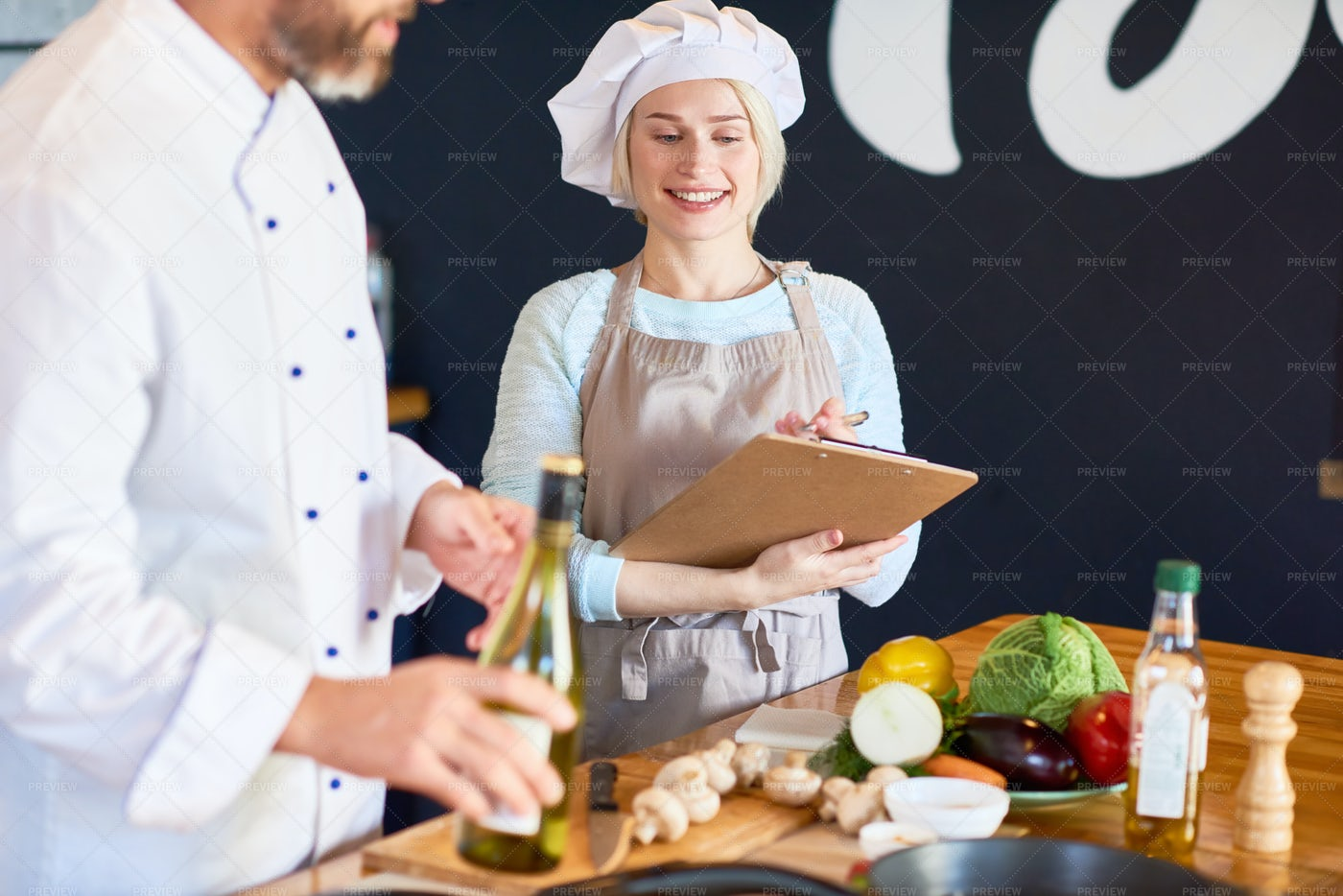 Portrait Of Talented Chef Assistant: Stock Photos