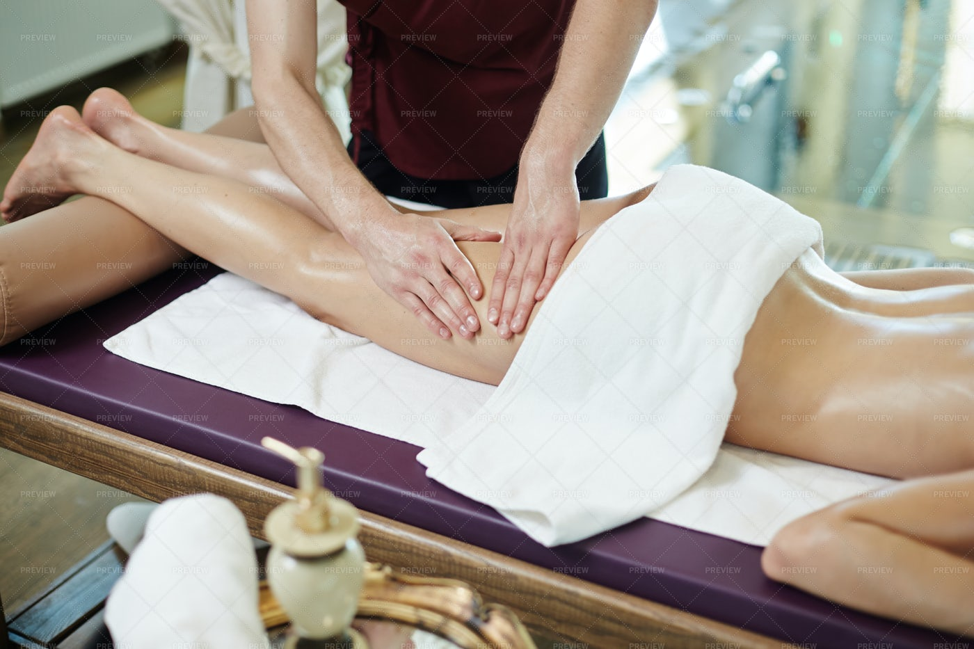 Cellulite Treatment In SPA: Stock Photos