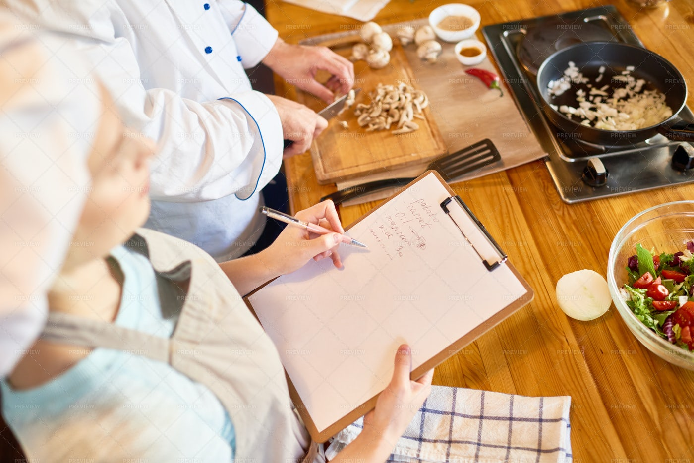 Culinary Workshop At Full Speed: Stock Photos