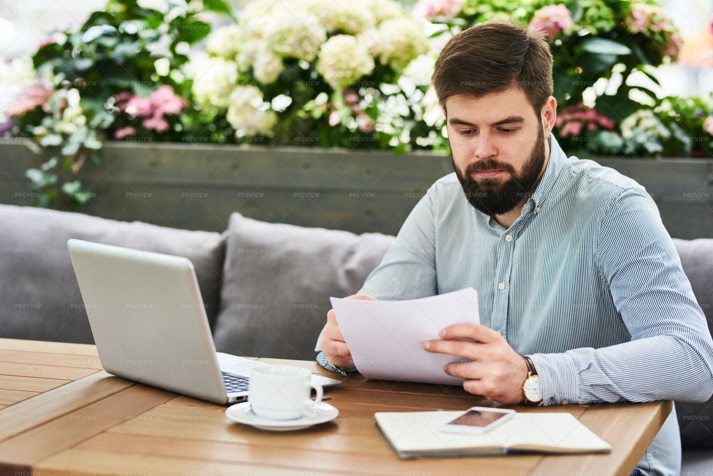 Modern Entrepreneur Working In...: Stock Photos