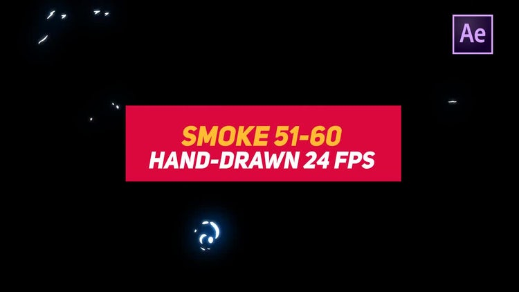 Liquid Elements Smoke 51-60: After Effects Templates