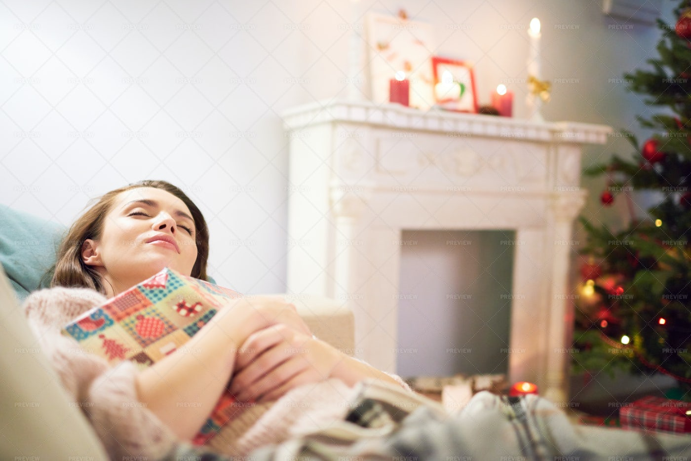 Taking Nap In Living Room: Stock Photos