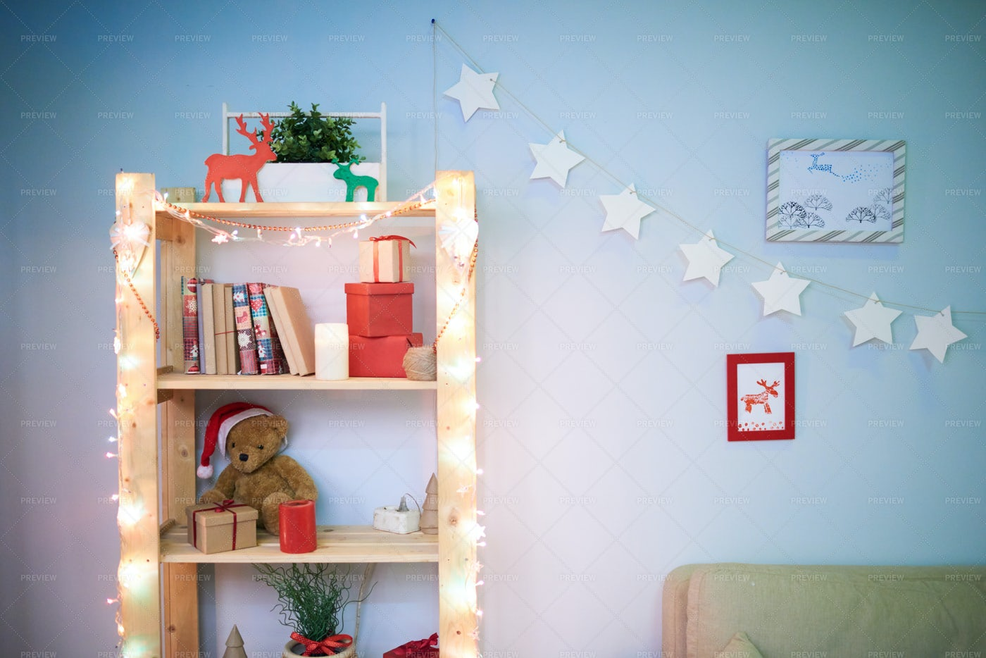 Atmosphere Of Approaching Christmas: Stock Photos
