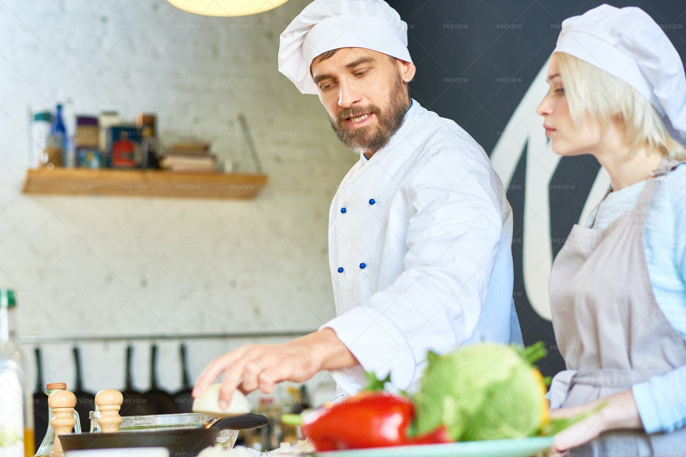 Conducting Cooking Workshop: Stock Photos