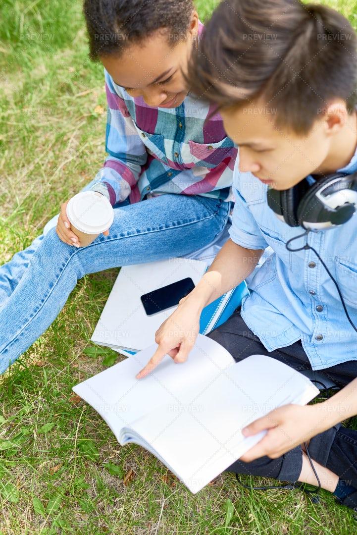 Two Students Doing Homework...: Stock Photos