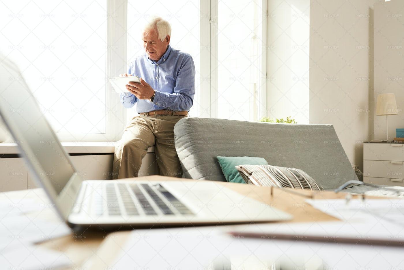 Senior Man At Home: Stock Photos