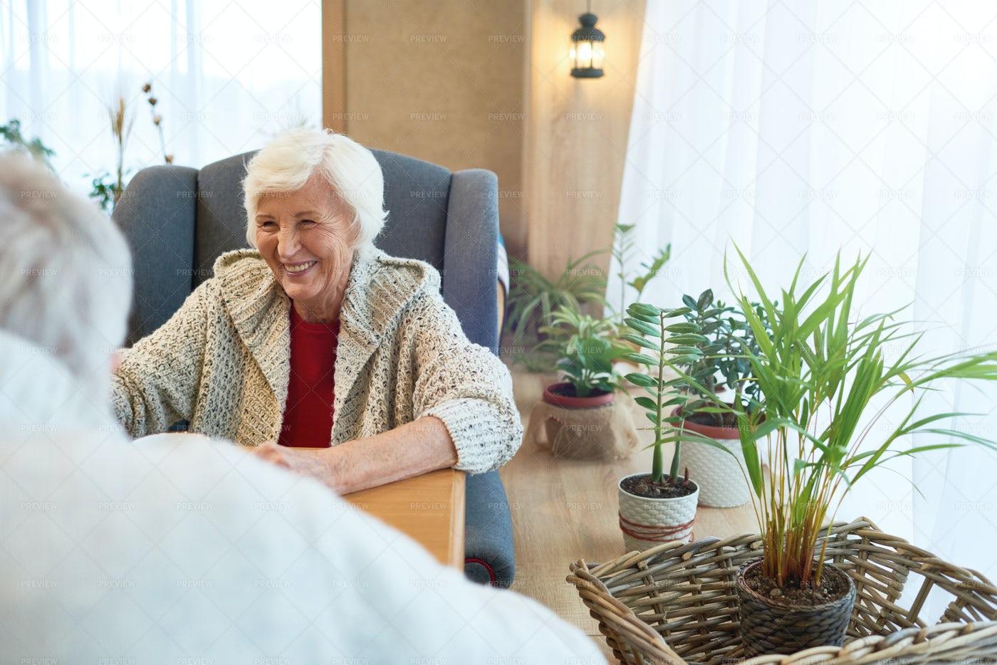 Senior Couple In Cafe: Stock Photos