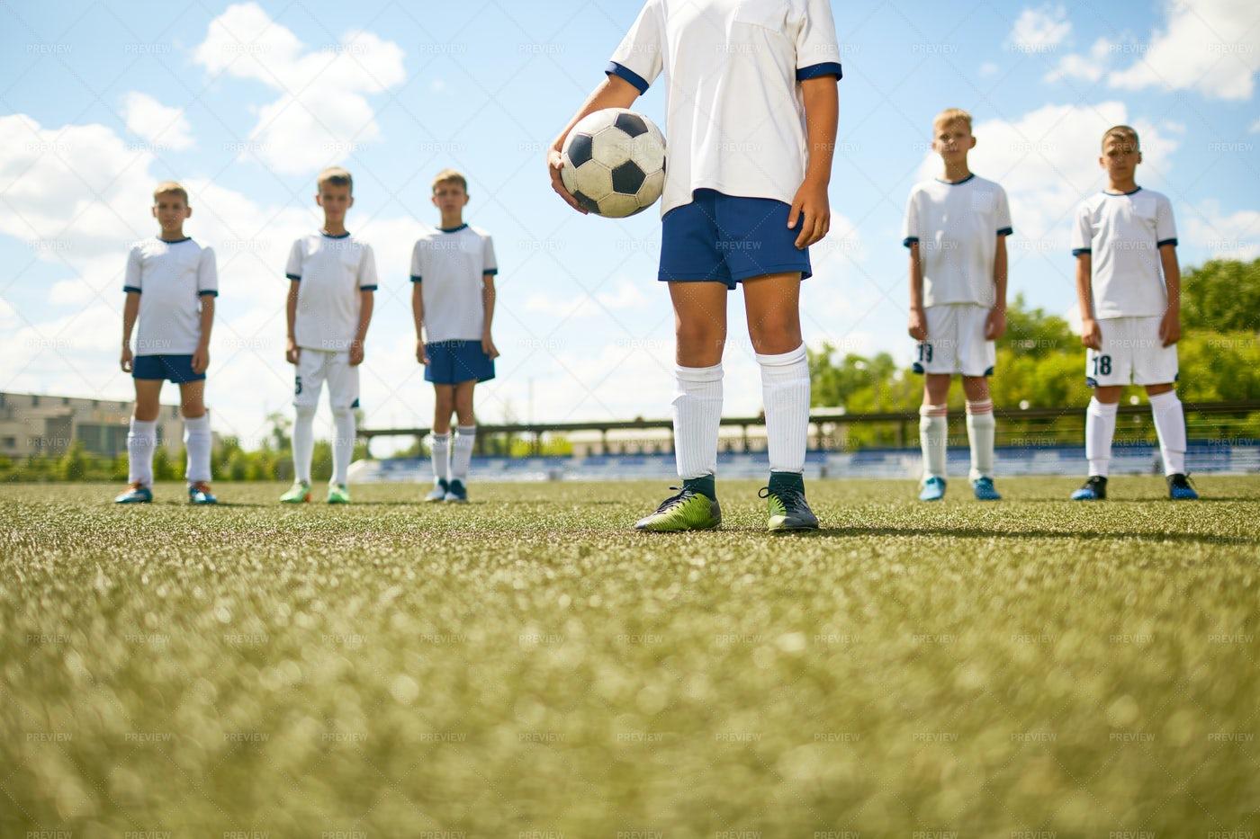 Captain Of Junior Soccer  Team: Stock Photos