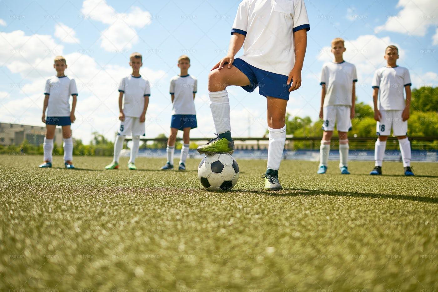 Captain Of Junior Football Team: Stock Photos